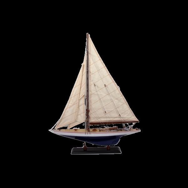 Schiffsmodell Endeavour 50cm weiß mahagoni