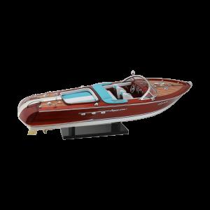 Edelholzschiffsmodell Speedboat 50cm